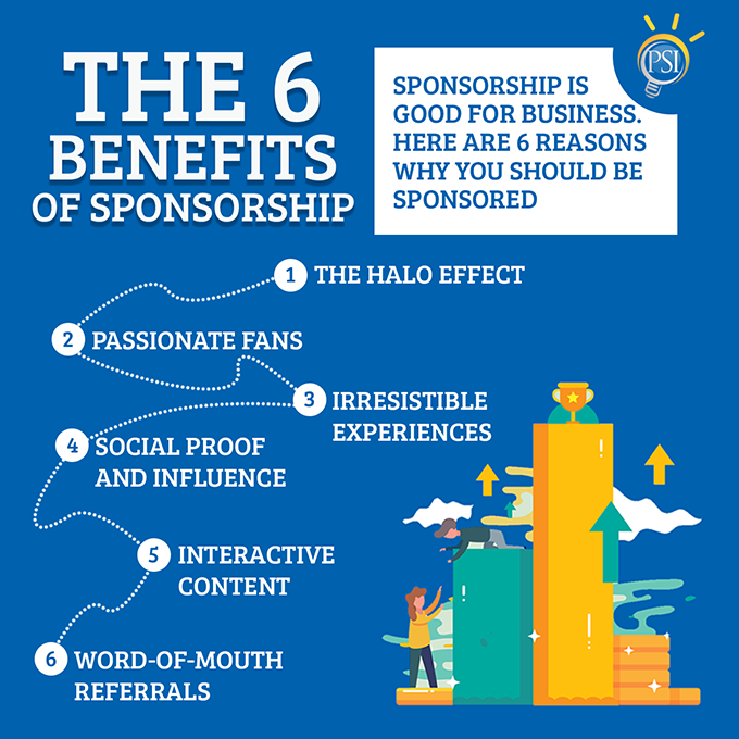 The 6 benefits of sponsorship.