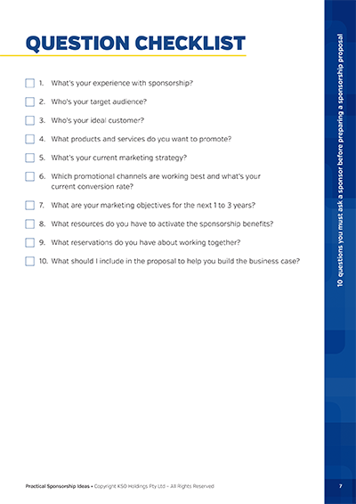 Question Checklist