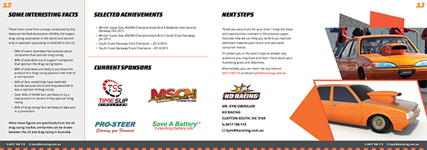 KO Racing Sponsorship Pitch