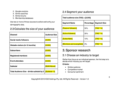 Sponsorship Pitch Worksheet